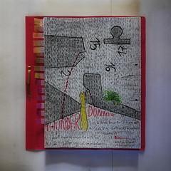 """15 17 16 2 Thunder Donner Hammerzahl - Prompter Book """"Brighton Beach Memoirs"""" """"Brooklyn Memoiren"""" (Neil Simon) - Nachtrag 1 of 78 doodles made during rehearsals während Proben 7. März - 22. April - 78 Ideen nicht 78 mal ein und dieselbe Idee (hedbavny) Tags: regen rain donner thunder brooklynmemoiren neilsimon doodle sketch zeichnung drawing skizze soufflierbuch buch book waiting warten wartezeit stehzeit leerzeit bleistift buntstift ölkreide ölpastell work arbeit theater theatre prompter souffleuse probe rehearsal probebühne studio werkstatt atelier arbeitsraum idee offen open mappe papier paper wasser water unterwasser animal tier portrait porträt grass gras grün green black schwarz white weis red rot yellow gelb natur blume flower blüte blossom schrift handschrift kalligraphie hedbavny ingridhedbavny wien vienna austria österreich"""