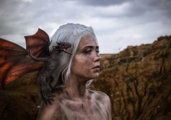 Mother of Dragons (re-l_mair) Tags: thegameofthrones beautiful girl photoshop canon eos7d dragon fantasy awesome