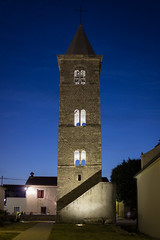 The Bell Tower of the parish Church of St Anselm - Nin (Dino Barsic) Tags: bell tower church stanselm nin croatia europe architecture night old building canon600d dark lights outdoor shadows sunset view