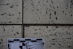Vinyl tile shrinkage probably related to the sunlight exposure. (The Architectural Conservation Laboratory -) Tags: conditions shrinkage vinyltile philadelphia pa theunitedstates