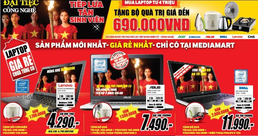 Giá sốc Cơn lốc quà tặng mừng MediaMart rầm rộ khai trương 04 siêu thị mới