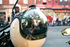 Reflected Photographers (Georgie_grrl) Tags: modsandrockers2016 motorcycles scooters chrome social community friends bikes bikers riders scooterists pentaxk1000 rikenon12828mm ossingtonavenue helmet visor reflection shiny me mondo