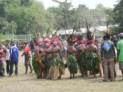 Papua New Guinea has several tribes, here some are shown.