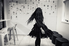 long hair, don't care (jojoannabanana) Tags: blackandwhite hair people monochrome movement twirling twirl