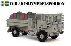 Tgb 30 Drivmedelsfordon (Matthew McCall) Tags: lego truck army military refuel fuel tanker sweden swedish moc logistics