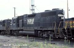N&W 4137 on 7-30-78 (C.W. Lahickey) Tags: nw emd gp38ac connellsville