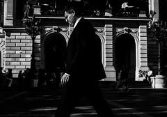 Walk (Picturepest) Tags: deutschland deutsch german germany allemagne germania alemania europe europa schwarzweis schwarzweiss sw blackwhite bw blackandwhite monochrome einfarbig twartwit noir people leute streetscene strasenszene strassenszene streetphotography mensch menschen person persons personen strassenfotografie stadt city urban town stdtisch moment moments candid strasse strase street snap unposed suit anzug