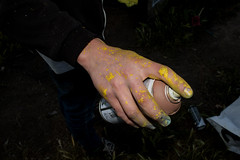 Puf (tox_poe) Tags: yellow paint graffity hand spray