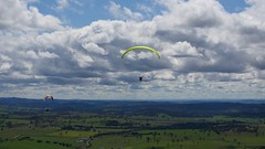 Al and Gwen (overflow50) Tags: paragliding paraglider canberra spring springhill sky clouds