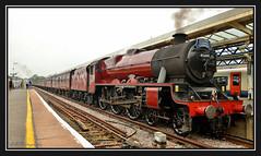 17.08.16 Weymouth Galatea 45699 (Tadie88) Tags: nikond7000 nikon18200lens weymouthstation weymouthdorset galatea45699 33207jimmartin steam locos railways tracks stations lunaphotos