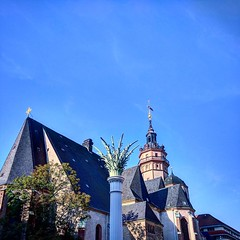Palmyra (C MB 166) Tags: deutschland germany sachsen saxony leipzig nikolaikirche nikolaichurch palme palm sule pillar dach roof architektur architecture instagram motorolanexus6