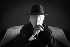 Slightly Mad (Alison Vienna) Tags: silence dark black white psycho madness faceless