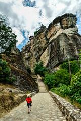 Meteora Greece (christinadimitriadou) Tags: summer mountain holyplace monastery landscape nature boyrunning outdoor church beautifulearth beautifulplace