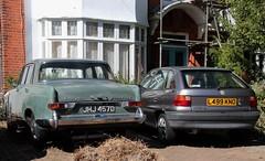 JHJ 457D & L499 KNO (Nivek.Old.Gold) Tags: 1993 vauxhall astra 16i gls auto 5door 1966 vandenplas princess 4litre r