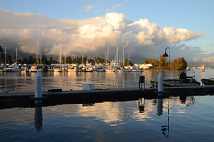 Coal Harbour (mag3737) Tags: coalharbour vancouver boats stanleypark deadmansisland clouds dock