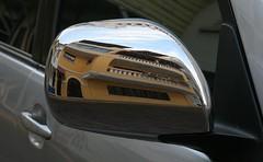 Retro-viseur (Pi-F) Tags: voiture rtroviseur glace rflection faade panama rue portire jaune miroir dformation rond courbe balcon porche fentre