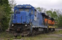 Ohio Central @ Zanesville, Ohio (Bob McGilvray Jr.) Tags: railroad train tracks engine locomotive ohiocentral zanesvilleohio ohcr b237r xconrail
