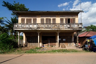 Front View of an Abandoned Building in Kralanh