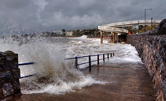 High tides on Torquay seafront - Getty Images (rosyrosie2009) Tags: uk sea england seascape water weather photography coast nikon waves photos devon torquay hdr westcountry coastpath torbay roughsea photomatix torreabbeysands tonemapped springtides devonandcornwall d5000 rosiesphotos nikond5000 tamronspaf1024mmf3545diiildasphericalif rosiespooner rosyrosie2009 rosemaryspooner rosiespoonerphotography
