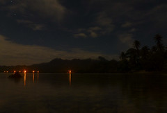 Lelu Town in Moonlight, Kosrae, Micronesia (ebuechley) Tags: ocean island scenery pacific wildlife fsm micronesia kosrae