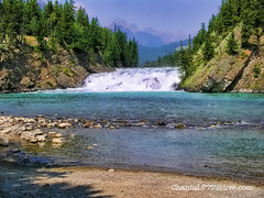 Rocky Mountains Waterfall ~ Nature ~ Outdoors (Chantal PhotoPix) Tags: trip travel vacation holiday snow canada mountains birds trekking trek rockies geese waterfall nationalpark pond squirrels rocks whitewater kayak hiking wildlife bears mountainclimbing paddle ducks atmosphere canadian hike goose canoe glacier adventure waterfalls alberta boating mountaineering fields backcountry banff rockymountains elk canoeing lakelouise tours cascade bowfalls banffnationalpark bighornsheep emeraldlake lakeminnewanka peytolake morainelake canadianrockies rockymts takakkawfalls twojacklake waptafalls historiclandmarks johnstonfalls 2jacklake cayuko mtwhitmore mountwhitmore