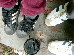 we (knitgirl) Tags: coffee shoes tireswing strathcona qualitytime soawesome nowtherearetheatreseatsthere