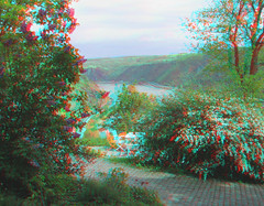 Looking north up the Rhine from the Gnderrode House (katyfernleigh) Tags: 3d anaglyph stereo heimat spm twincamera ixus70 sdmsync