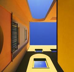 Il cielo sopra di noi (meghimeg) Tags: shadow sky facade arch colours ombra cielo colori arco facciata 2011 albenga