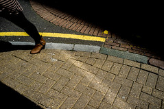 (Matt Obrey) Tags: street colour yellow shoe birmingham shadows walk streetphotography x100 fujix100