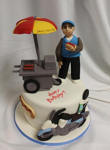 Hot dog stand cake