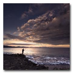 (jose.singla) Tags: light shadow sea sky costa seascape color luz water clouds marina canon landscape atardecer person coast fisherman agua mediterraneo sigma sombra paisaje murcia cielo nubes reflexions 1020 pescador guilas 400d josesingla joseantoniogimenez