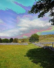 posterised landscape