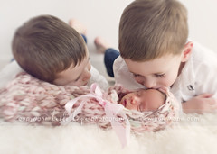 Older Brothers (Heidi Hope) Tags: kissing brothers siblings newborn newborngirl newbornphotographer heidihopephotography heidihope httpwwwheidihopecom