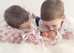 Older Brothers (Heidi Hope) Tags: kissing brothers siblings newborn newborngirl newbornphotographer heidihopephotography heidihope httpwwwheidihopecom