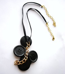 Casual elegance necklace (d'ekoprojects) Tags: recycled sustainable ecofriendly handmadejewelry upcycled handmadenecklace blacknecklace recycledjewelry blackjewelry buttonjewelry ecofriendlyjewelry statementnecklace upcycledjewelry