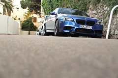 Grocery Getter (SCGcars) Tags: street blue monster canon eos crazy amazing shot angle awesome side low f10 front limo stunning bmw m5 find v8 2012 syndikat biturbo rwd 60d worldcars