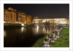 Party by the Arno (Eynaud yoan) Tags: bridge italy night florence long exposure italia ponte firenze arno toscane vecchio