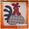 Galo e Galinha Aplicação Camisetas (CRICOISAS by Crislaine Godoy) Tags: chicken galinha pano tshirt patchwork camiseta galo aplicação cricoisas crislainegodoy