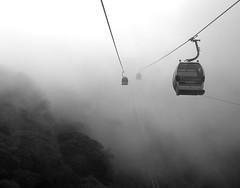 (Pulgarcita.) Tags: car fog venezuela cable caracas telefrico warairarepano