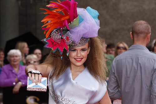 Tallia Storm on the red carpet for the European premiere of Brave at the Festival Theatre