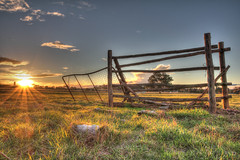 Derelict gate at sunset 2012-06-30 (_MG_0530_1_2) (ajhaysom) Tags: