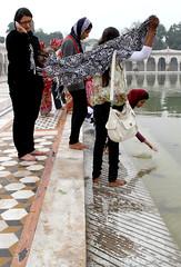 Bangla Sahib Temple (cowyeow) Tags: girls woman india water pool asian temple asia candid delhi indian faith religion belief sikh gurdwara sikhism rajasthan newdelhi banglasahib banglasahibtemple