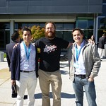 Historical: with Matias and Evan at Microsoft's door. ;-)
