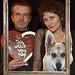 Duo - Herz, Hund und Bilderrahmen