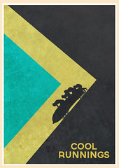Cool Runnings (1993) (Jon Glanville) Tags: disney jamaica olympics coolrunnings johncandy winterolympics jamaicanbobsledteam calgary1988 minimalistfilmposter