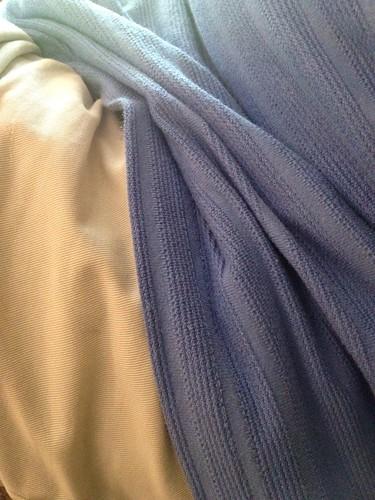 blue tan husband clothes folds