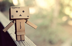 DP: Be Careful! (Britt Fowler) Tags: summer cute nature toy outdoors japanese model funny hippie danbo danboard