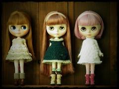 My girls wearing dresses by minami626