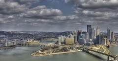 Pittsburgh Downtown (NathanFirebaugh) Tags: city clouds washington downtown pittsburgh mount scape