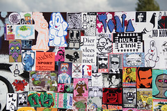 stickercombo (wojofoto) Tags: streetart amsterdam stickerart stickers combo javaeiland stickercombo wojo wojofoto
